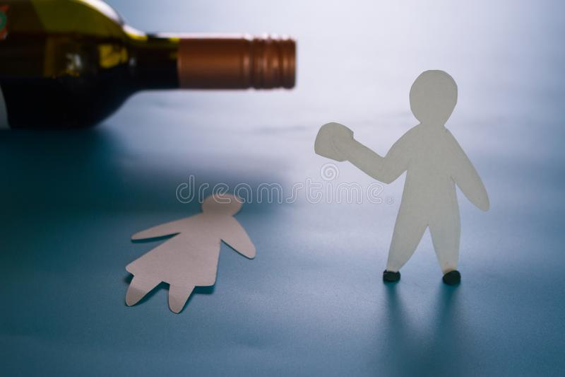 Domestic violence and abuse. And alcohol addiction concept stock photos