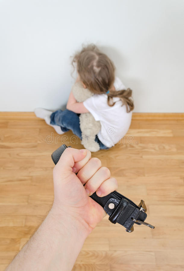 Domestic violence concept. stock photography