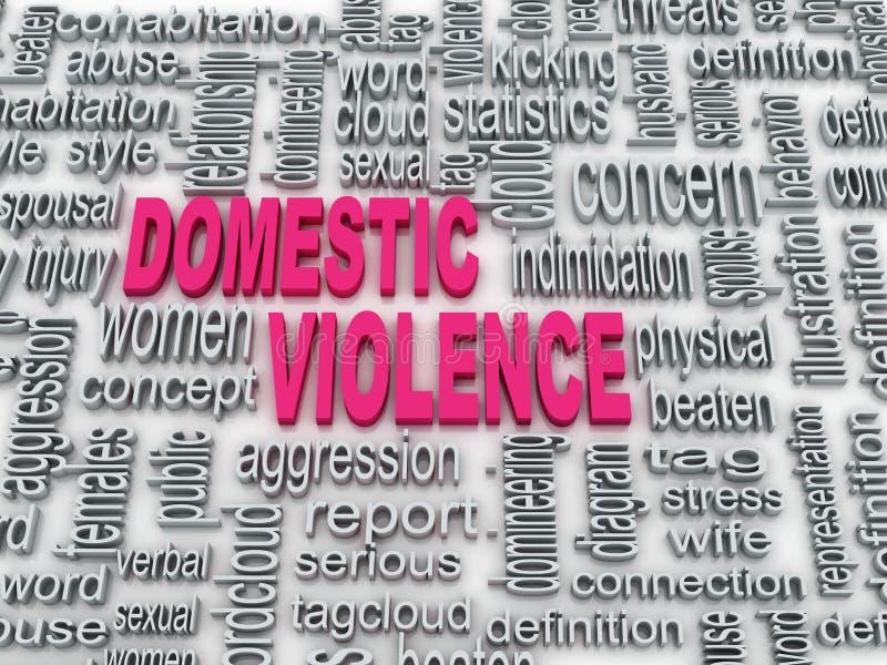 Domestic violence. 3d Concept diagram wordcloud illustration of domestic violence vector illustration
