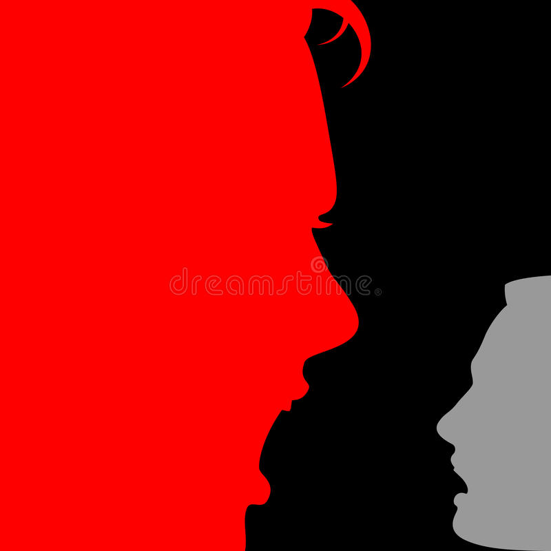 Free Domestic Violence Domination Face Expression Emotion Woman Man S Stock Images - 72564484