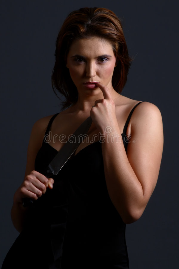 Download Domestic violence knife stock image. Image of model, killer - 1558073