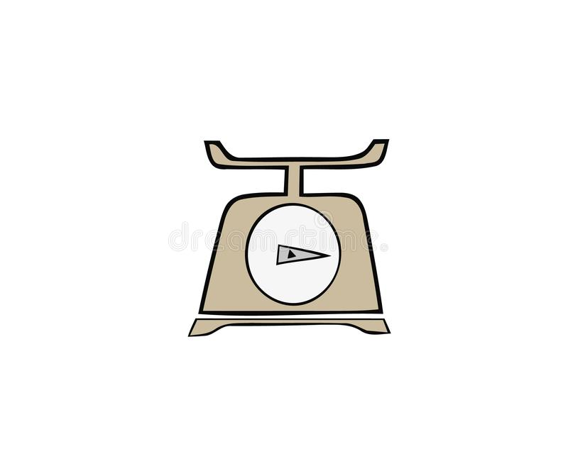 Domestic weigh scales icon. Cartoon illustration of domestic weigh scales vector icon for web design vector illustration
