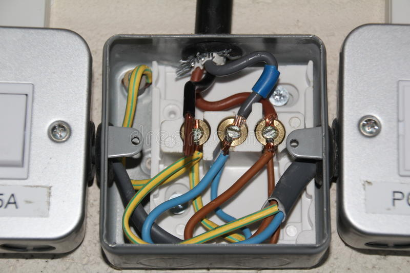 surface mount electrical junction box stock image image of wiring rh dreamstime com