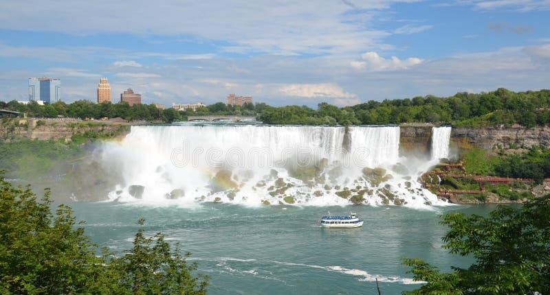 Domestica della foschia alle cadute americane, cascate del Niagara