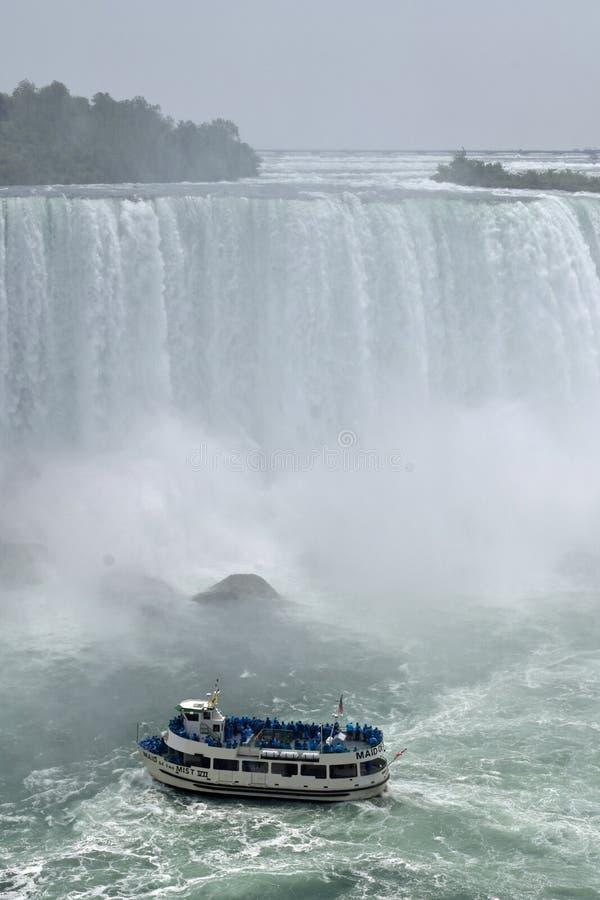 Domestica Of The Mist, cascate del Niagara a ferro di cavallo Ontario Canada di caduta fotografia stock