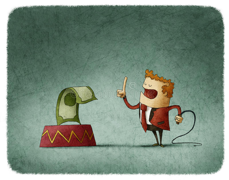 Domesticando o dinheiro ilustração royalty free
