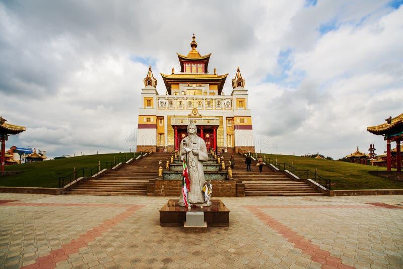 Domicílio dourado da Buda Shakyamuni foto de stock
