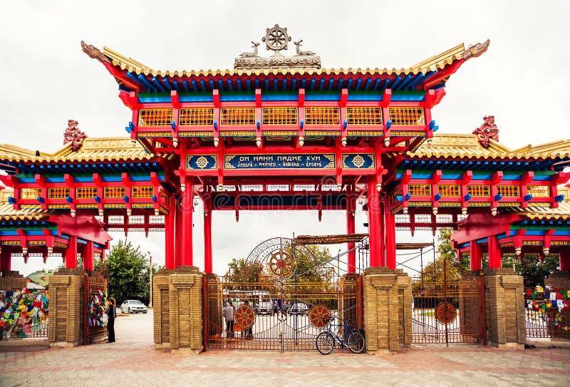 Domicílio dourado da Buda Shakyamuni imagens de stock