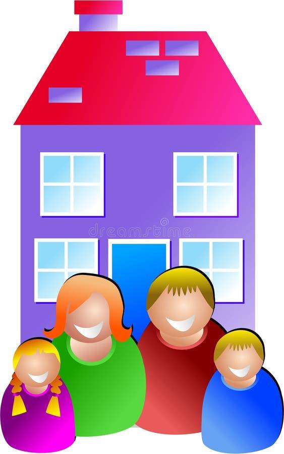 Domicílio familiar ilustração stock
