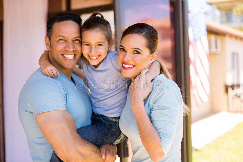Domicílio familiar americano imagem de stock