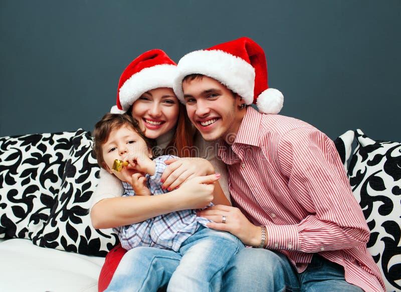 Domicílio familiar de riso novo com abeto vermelho fotografia de stock royalty free