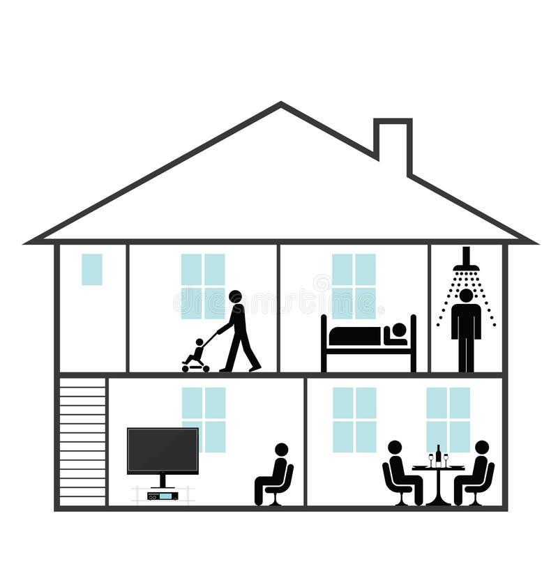 Domicilio familiar ilustración del vector
