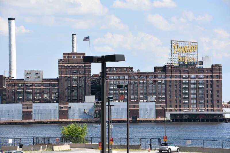 Dominó Sugar Factory em Baltimore, Maryland foto de stock royalty free