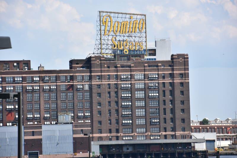 Dominó Sugar Factory em Baltimore, Maryland fotos de stock royalty free