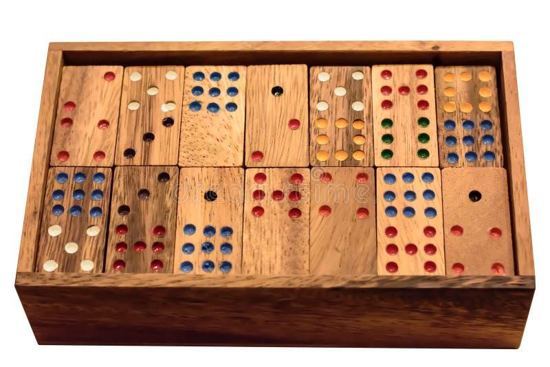 Dominós de madeira fotografia de stock