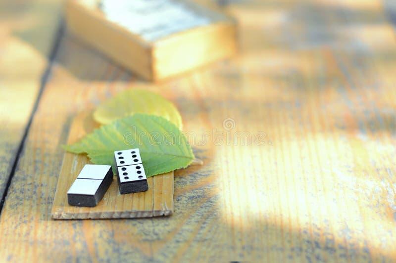 Dominós de madera fijados imagen de archivo libre de regalías