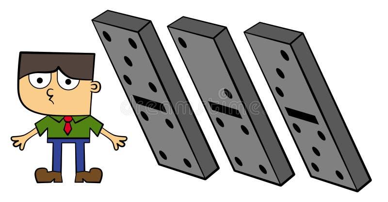 Dominós de queda ilustração royalty free