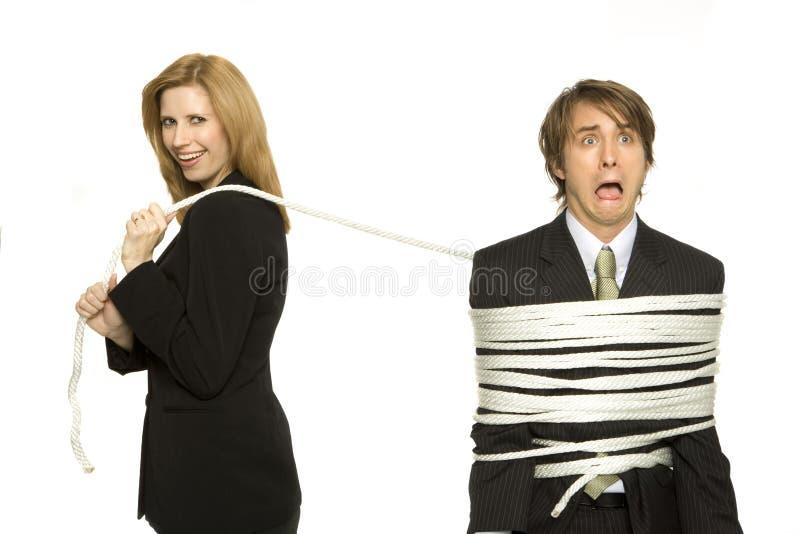 Dominação da mulher de negócios foto de stock