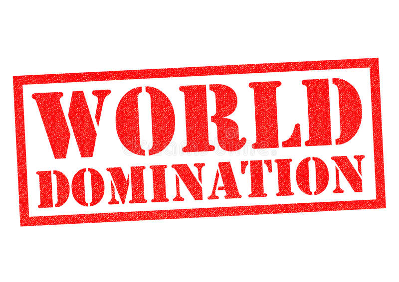Dominação do mundo ilustração royalty free