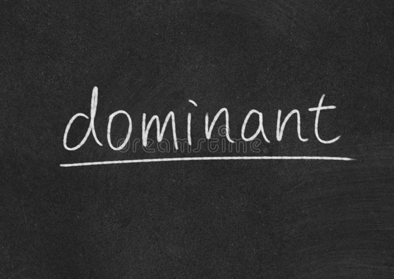 Dominant. Concept word on blackboard background stock photos