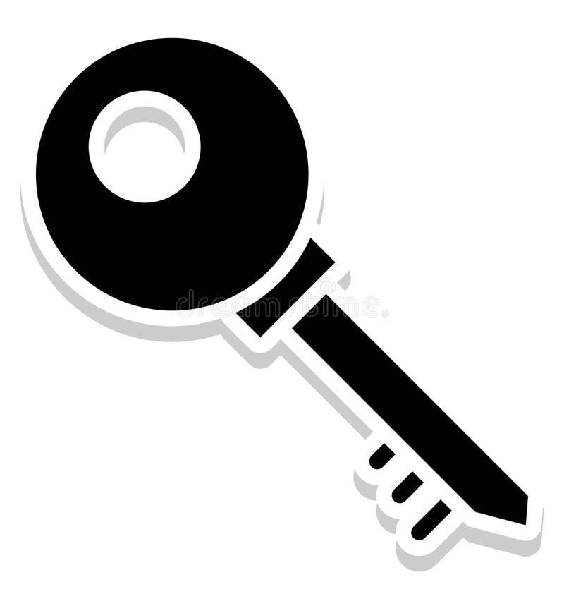 Dominante, icono aislado contraseña que puede ser modificado o corregir fácilmente en cualquier llave del estilo, del vector icon ilustración del vector