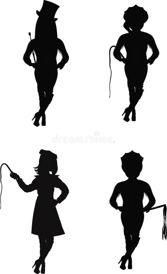 Download Dominatrix Group In Silhouette Stock Image - Image of fantasy, desire: 38991473