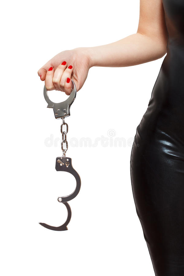Download Dominatrix Holding Handcuffs Stock Image - Image of masochism, love: 38339663