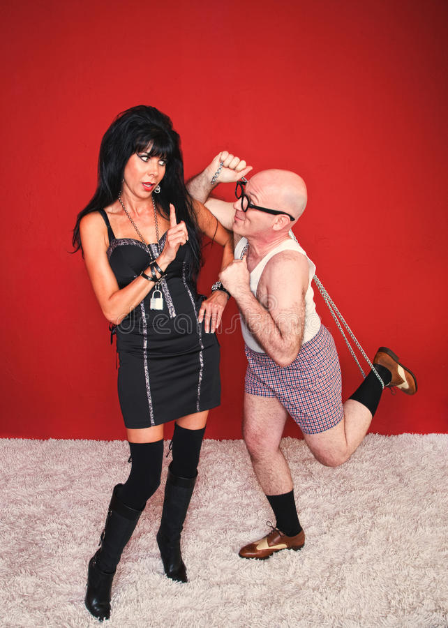 Download Dominatrix Woman And Silly Man Stock Image - Image of isolated, lifestyle: 21024213