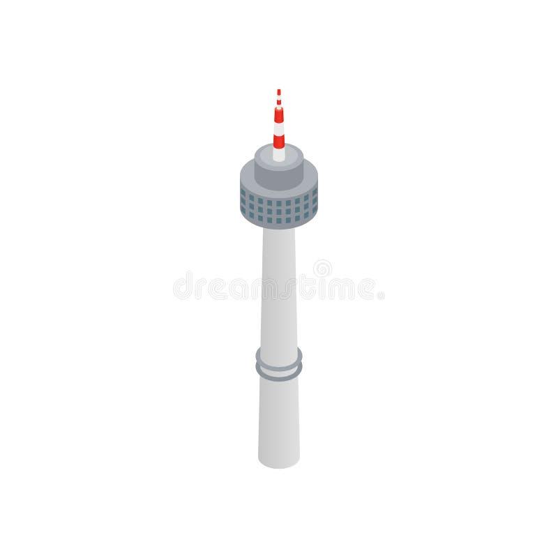 Dominez dans l'icône de Séoul, le style 3d isométrique illustration stock