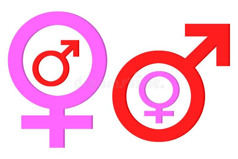 Dominez le symbole de sexe illustration stock