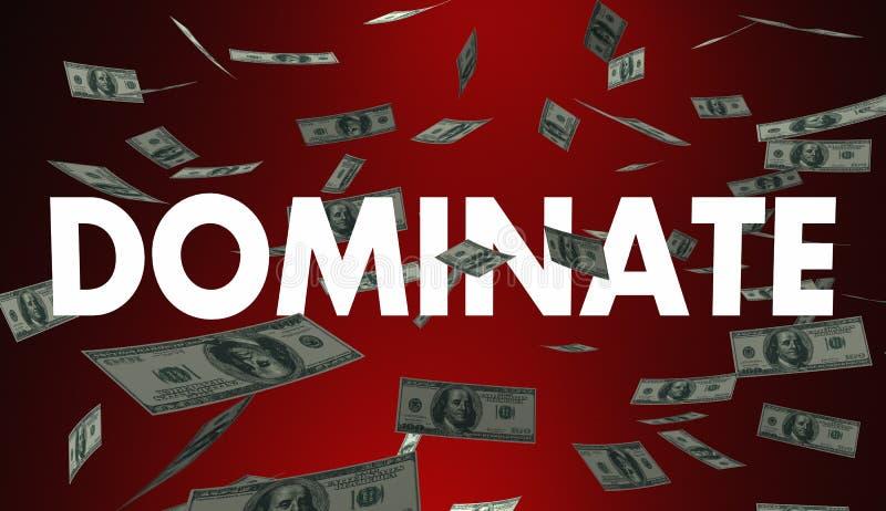 Dominez les plus élevés meilleurs bénéfices d'argent de revenu de ventes illustration libre de droits