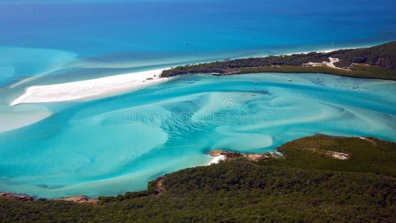 Domingos de Pentecostes da praia de Whitehaven fotografia de stock royalty free