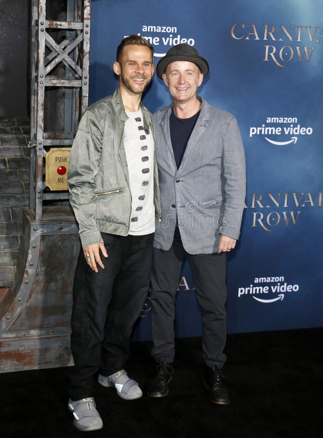Dominic Monaghan and Billy Boyd. At the Los Angeles premiere of Amazon`s `Carnival Row` held at the TCL Chinese Theatre in Hollywood, USA on August 21, 2019 royalty free stock photos