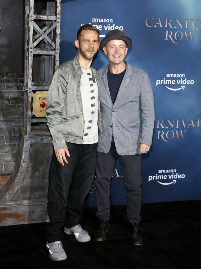 Dominic Monaghan and Billy Boyd. At the Los Angeles premiere of Amazon`s `Carnival Row` held at the TCL Chinese Theatre in Hollywood, USA on August 21, 2019 stock photos