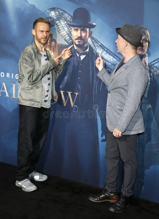 Dominic Monaghan and Billy Boyd. At the Los Angeles premiere of Amazon`s `Carnival Row` held at the TCL Chinese Theatre in Hollywood, USA on August 21, 2019 stock photo