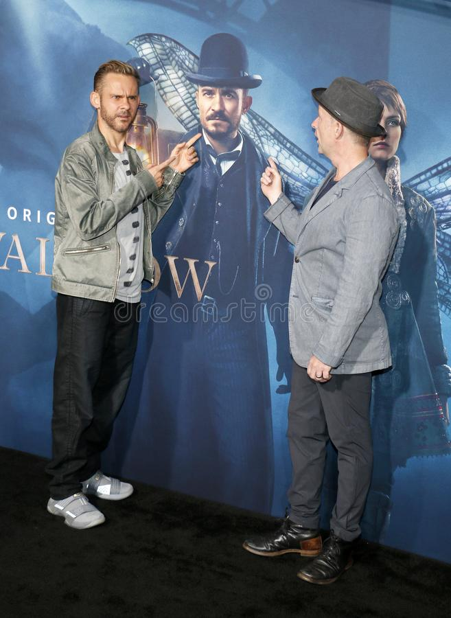 Dominic Monaghan and Billy Boyd. At the Los Angeles premiere of Amazon`s `Carnival Row` held at the TCL Chinese Theatre in Hollywood, USA on August 21, 2019 royalty free stock photo