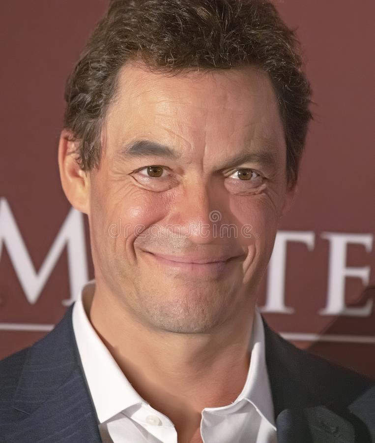 Dominic West przy Nowy Jork premiera Les Miserables obrazy stock
