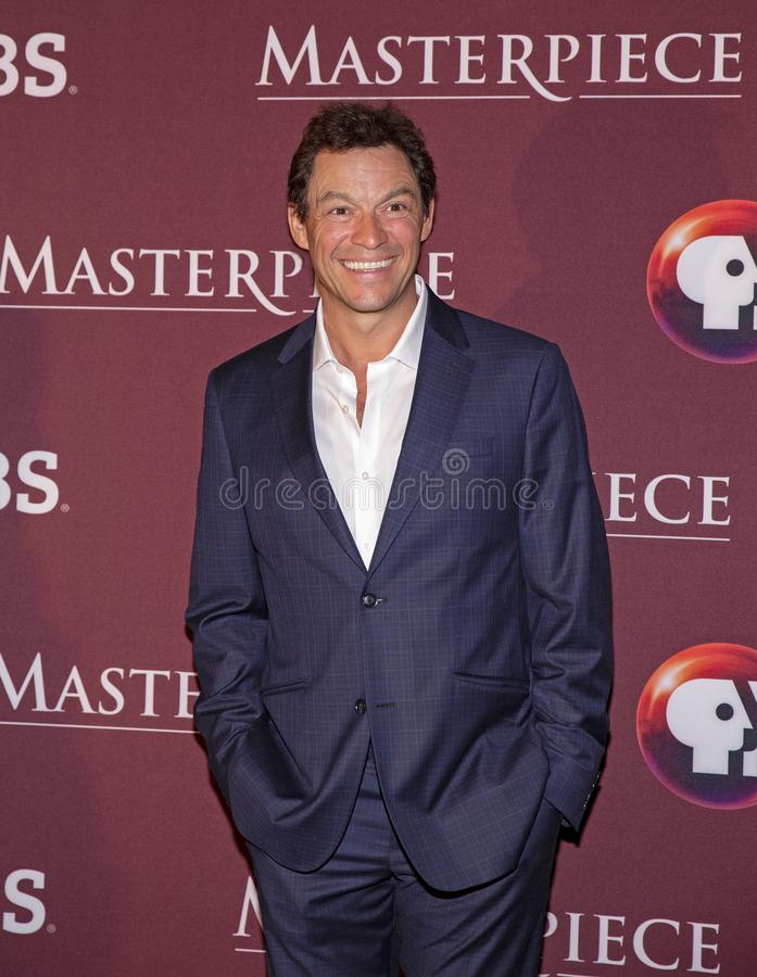 Dominic West przy Nowy Jork premiera Les Miserables obraz stock