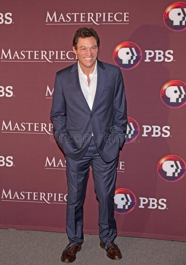 Dominic West przy Nowy Jork premiera Les Miserables obrazy royalty free
