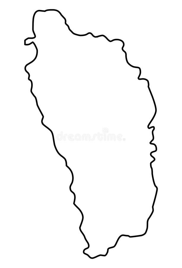 Dominica de vectorillustratie van de overzichtskaart royalty-vrije illustratie