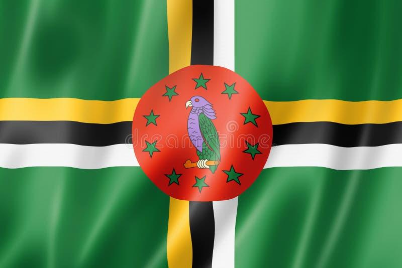 Dominica Flag royalty-vrije illustratie