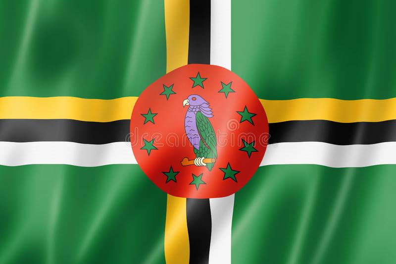 Dominica Flag lizenzfreie abbildung