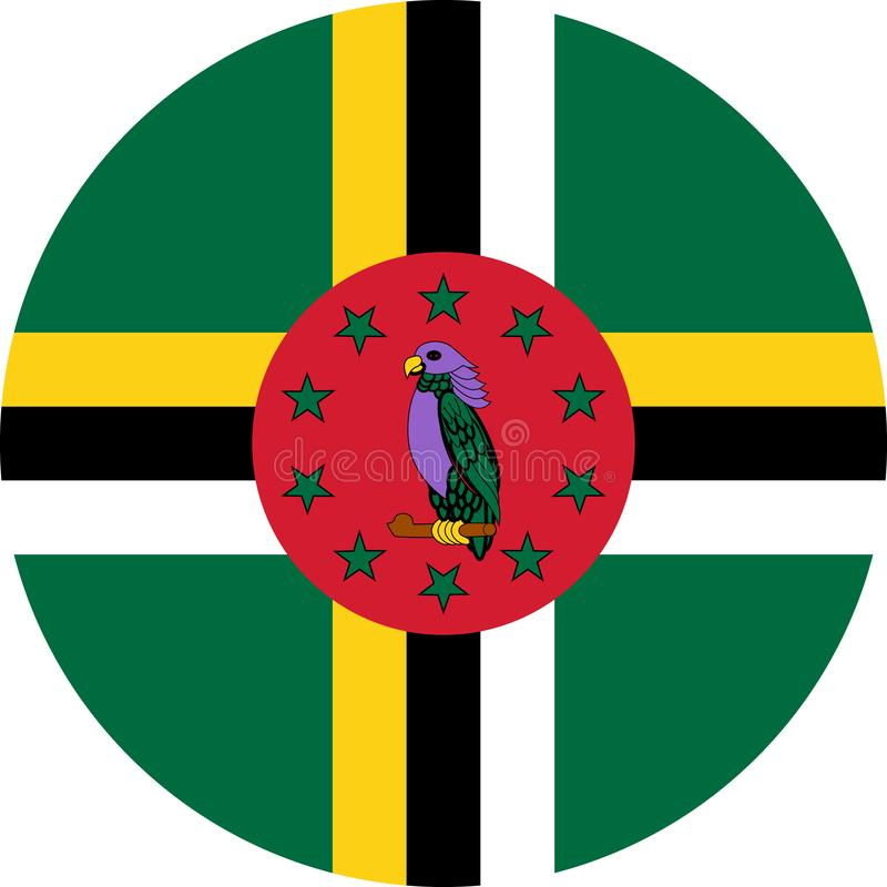 Dominica Flag-illustratie vectoreps royalty-vrije illustratie