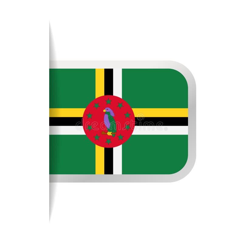 Dominica Flag Vector Bookmark Icon libre illustration
