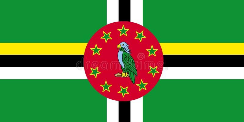 Dominica-Flaggenvektor Illustration von Dominica-Flagge lizenzfreie abbildung