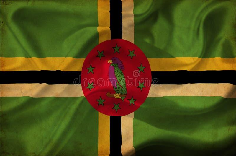 Dominica golvende vlag royalty-vrije illustratie