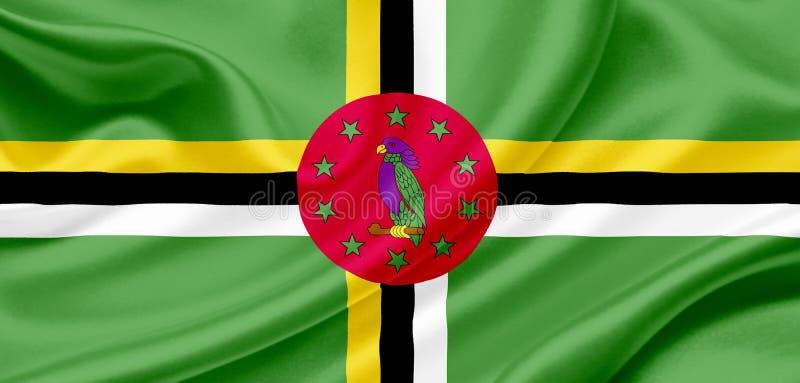 Dominica golvende vlag vector illustratie