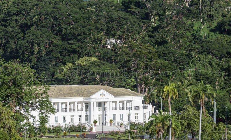 Dominica Government Building royaltyfria bilder