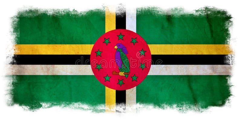 Dominica grunge vlag royalty-vrije illustratie