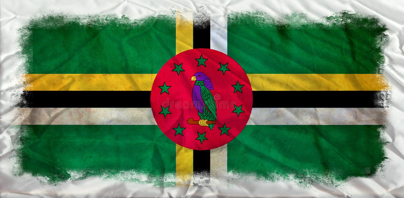 Dominica grunge vlag vector illustratie